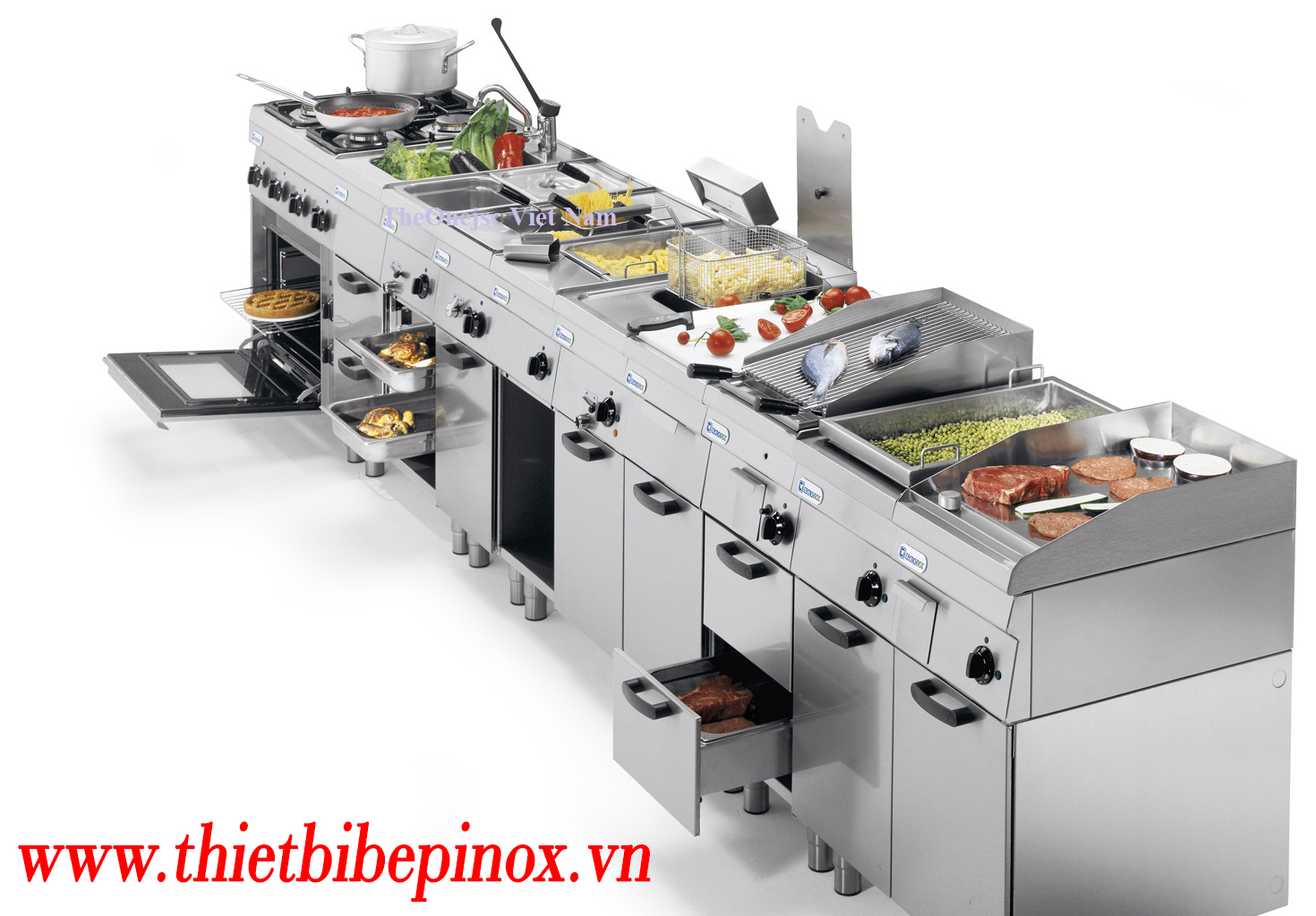 Chọn thiết bị bếp inox công nghiệp theo năng suất